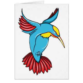 HummingBird 2 ~ Vintage Forties Tattoo Bird Art Stationery Note Card