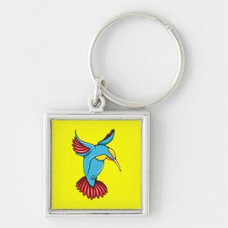HummingBird 2 ~ Vintage Forties Tattoo Bird Art Keychain