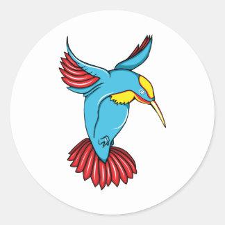 HummingBird 2 ~ Vintage Forties Tattoo Bird Art Sticker