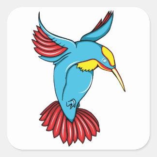 HummingBird 2 ~ Vintage Forties Tattoo Bird Art Square Sticker