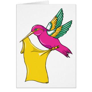 Hummingbird 3 ~ Vintage Forties Tattoo Bird Art Stationery Note Card