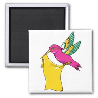 Hummingbird 3 ~ Vintage Forties Tattoo Bird Art Magnets