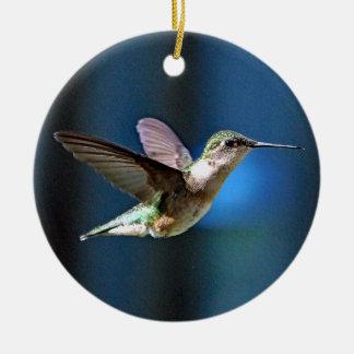 Hummingbird 424 round ceramic decoration