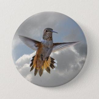 HUMMINGBIRD 7.5 CM ROUND BADGE