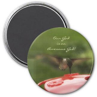 Hummingbird 7.5 Cm Round Magnet