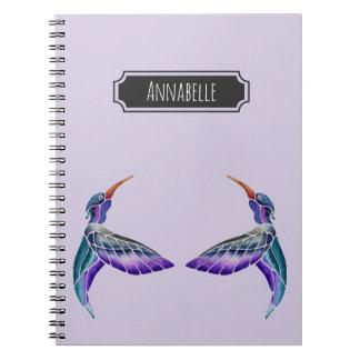Hummingbird Abstract Watercolor Notebook