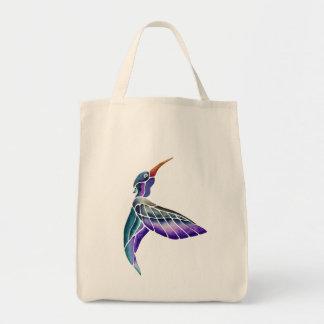 Hummingbird Abstract Watercolor Tote Bag