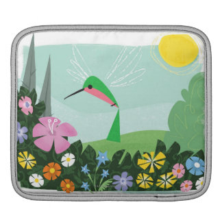 Hummingbird Among Flowers iPad Sleeve