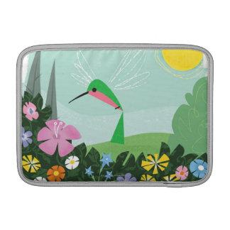Hummingbird Among Flowers MacBook Sleeve