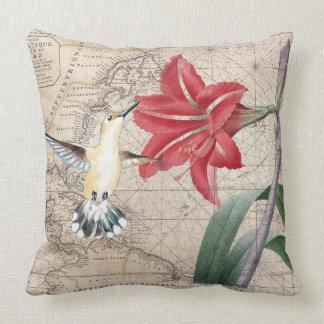 Hummingbird And Amaryllis Cushion