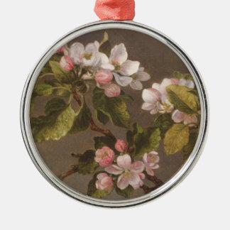 Hummingbird and Apple Blossoms Christmas Ornament
