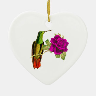 Hummingbird And Flower Christmas Ornament