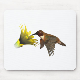 Hummingbird and Flower Mouse Pad