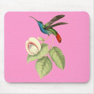 Hummingbird and Flower Mousepad
