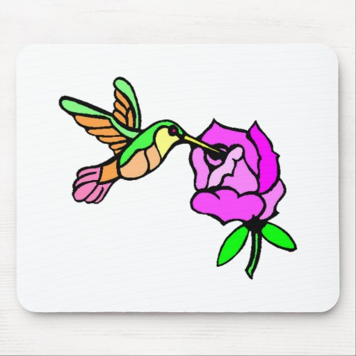 Hummingbird And Flower Mousepads
