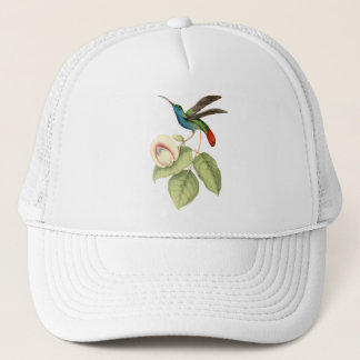 Hummingbird and Flower Trucker Hat