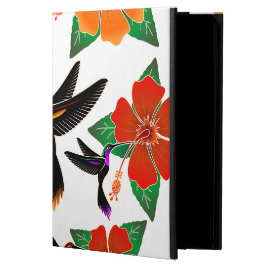 Hummingbird and Hibiscus Batik iPad Air Case