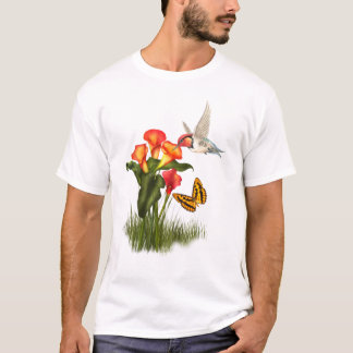 Hummingbird and lilies T-Shirt