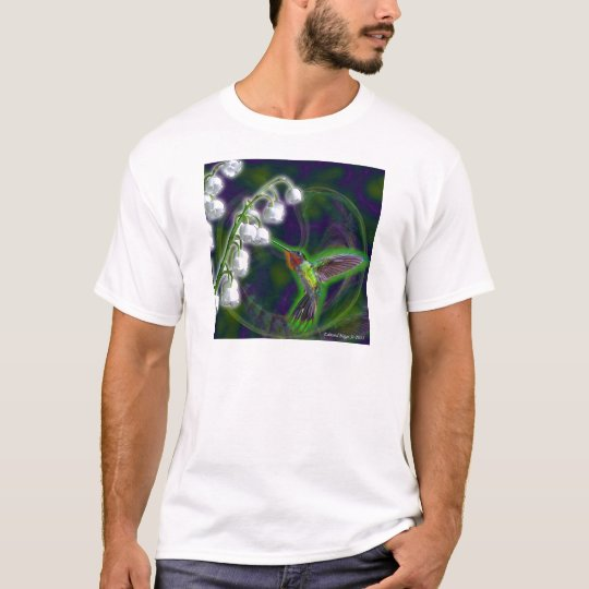 Hummingbird and Lily of the Valley Flowers T-Shirt