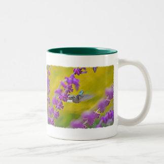 Hummingbird and Mexican Sage Two-Tone Coffee Mug