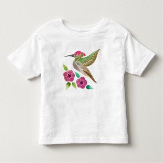Hummingbird and Petunia Abstract Painting Toddler T-Shirt