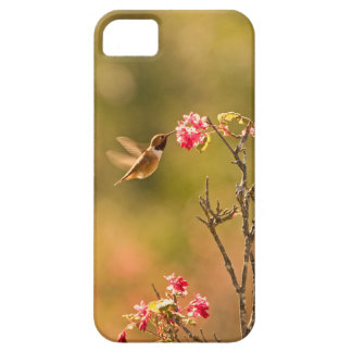 Hummingbird and Pink Flowers Barely There iPhone 5 Case