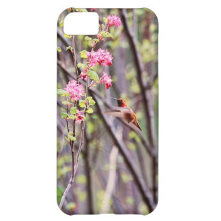 Hummingbird and Pink Flowers iPhone 5C Case