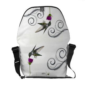 Hummingbird Angel Rickshaw Messenger Bag / Tote /