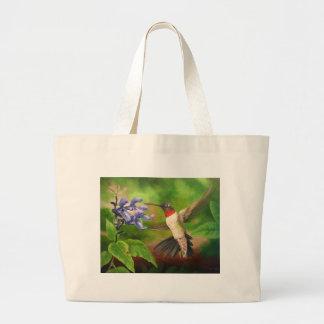 Hummingbird Art Canvas Bag