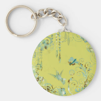 Hummingbird Basic Round Button Key Ring