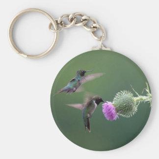 Hummingbird Basic Round Button Key Ring