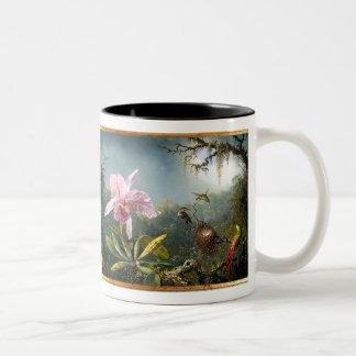 Hummingbird Bird Animal Wildlife Floral Two-Tone Coffee Mug