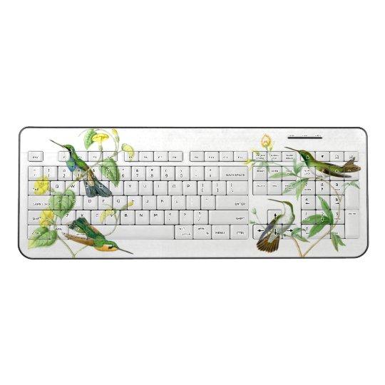 Hummingbird Bird Animal Wildlife Wireless Keyboard