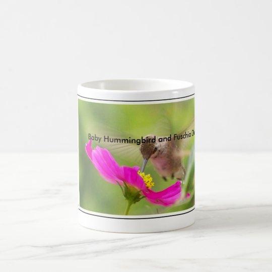 Hummingbird Bird Wildlife Animal Floral Coffee Mug