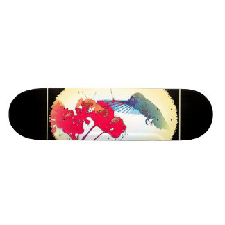 Hummingbird Bird Wildlife Animal Floral Custom Skateboard