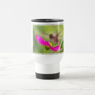 Hummingbird Bird Wildlife Animal Floral Travel Mug