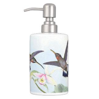 Hummingbird Bird Wildlife Animals Flowers Bath Set