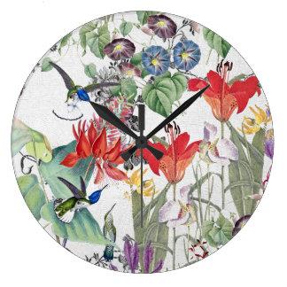 Hummingbird Bird Wildlife Flower Garden Wall Clock