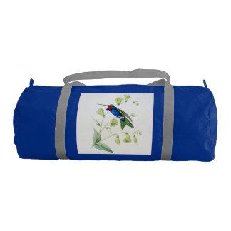 Hummingbird Bird Wildlife Flowers Floral Animals Gym Duffel Bag