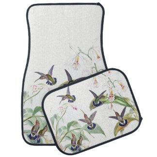 Hummingbird Birds Animal Flowers Car Floor Mats
