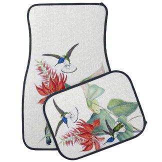 Hummingbird Birds Animal Red Floral Car Floor Mats