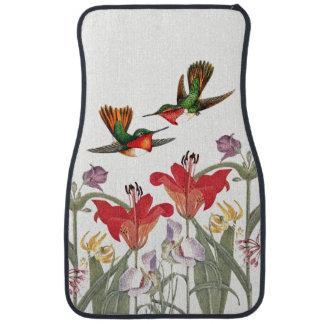 Hummingbird Birds Animals Floral Car Floor Mats