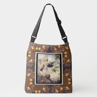 Hummingbird Birds Animals Flowers Heade Tote Bag