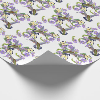 Hummingbird Birds Butterflies Flowers Floral Wrapping Paper