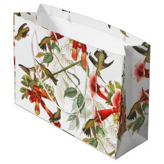 Hummingbird Birds Floral Audubon Wildlife Gift Bag