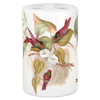 Hummingbird Birds Flower Floral Wildlife Animal Bath Sets