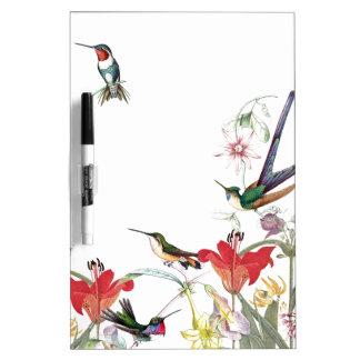 Hummingbird Birds Flower Garden Dry Erase Board