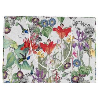 Hummingbird Birds Flower Garden Gift Bag