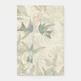 Hummingbird Birds Flowers Ferns Post It Notes