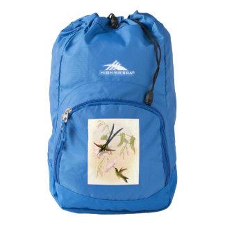 Hummingbird Birds Flowers Floral Wildlife Backpack